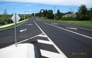 Newly Paved Roads With Turning Lanes