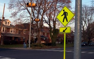 Pedestrian Crosswalk by Homes