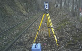 Blue Surveying Equipment